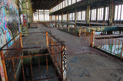 被放弃的发电站 免版税库存图片