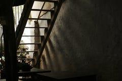 被放弃的台阶 库存图片