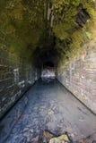 被放弃的和倒塌的铁路隧道-油城市,宾夕法尼亚 免版税库存照片