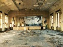 被放弃的和被破坏的戏院 库存照片