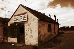被放弃的咖啡馆 库存图片