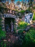被放弃的地堡外部 库存图片