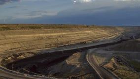被放弃的地表矿山 库存图片