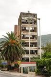 被放弃的地震大厦 免版税库存照片