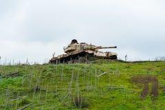 被放弃的坦克 库存照片