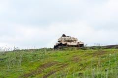 被放弃的坦克 库存图片