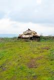 被放弃的坦克 免版税库存照片