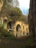 被放弃的城堡在克列梅涅茨 免版税库存照片