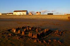 被放弃的城堡在威尔士 库存图片