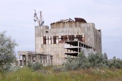 被放弃的基本kazantip发电站 库存照片