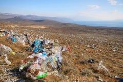 被放弃的塑料袋 免版税图库摄影