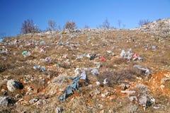 被放弃的塑料袋 免版税库存照片