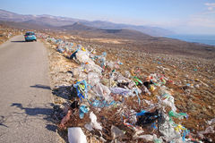 被放弃的塑料袋 免版税库存图片