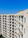 被放弃的多层的大厦在乌克兰 免版税库存照片