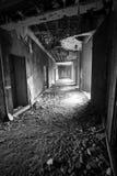 被放弃的大厦在七个城市 免版税库存照片