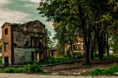 被放弃的大厦在塔林爱沙尼亚 免版税库存照片