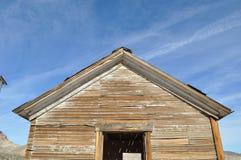 被放弃的大厦在鬼城 免版税库存图片