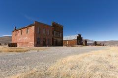 被放弃的大厦在Bodie鬼城历史的国家公园, Cal 免版税库存照片