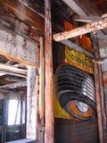 被放弃的大厦在Ironton,科罗拉多鬼城  免版税库存照片