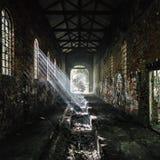 被放弃的大厦流洒了英国 库存图片