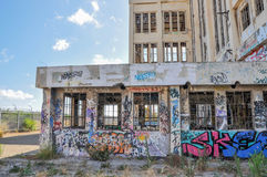 被放弃的大厦:故意破坏 库存照片