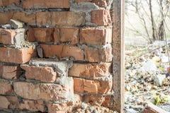 被放弃的大厦 内河港的废墟在其中一个城市中在东欧 库存照片