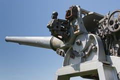 被放弃的大炮细节 免版税库存照片