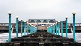 被放弃的奥林匹克结构(塔林,爱沙尼亚) 免版税库存照片