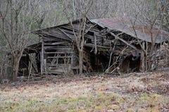被放弃的存贮谷仓 库存图片