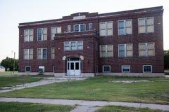 被放弃的学校 免版税库存图片
