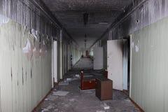 被放弃的学校 免版税图库摄影