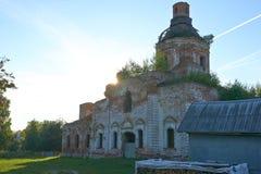 被放弃的寺庙大教堂 免版税库存照片