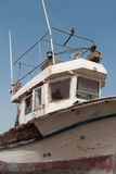 被放弃的小船关闭  库存照片