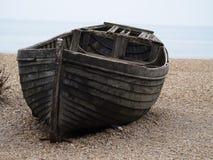 被放弃的小船 图库摄影