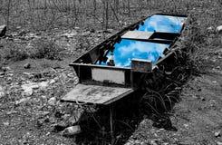 被放弃的小船 库存图片