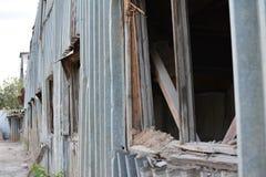 被放弃的工业区 库存照片