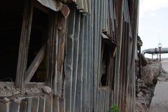 被放弃的工业区 免版税库存图片