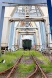 被放弃的工业船坞 库存照片