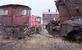 被放弃的工业运输设备 免版税库存图片