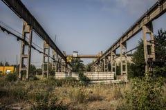 被放弃的工厂厂房在阿夫迪夫卡 免版税库存照片