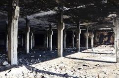 被放弃的工厂在3之内 免版税库存图片