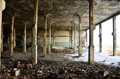 被放弃的工厂在6之内 库存图片