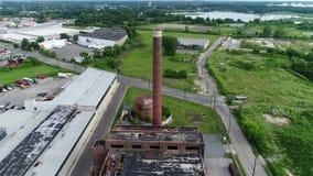 被放弃的工厂格洛斯特新泽西鸟瞰图  股票录像