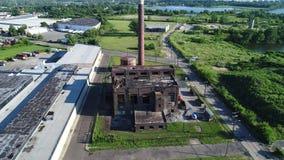 被放弃的工厂格洛斯特新泽西鸟瞰图  股票视频
