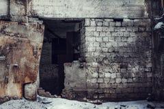 被放弃的工厂 免版税库存图片