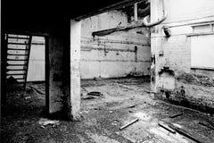 被放弃的工厂 免版税库存照片