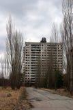 被放弃的市Pripyat,切尔诺贝利 免版税库存照片