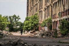 被放弃的帕卡德工厂  免版税库存图片