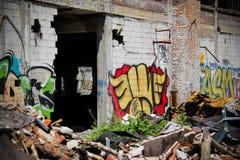被放弃的帕卡德工厂14 免版税库存图片