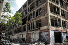 被放弃的帕卡德工厂18 免版税库存图片